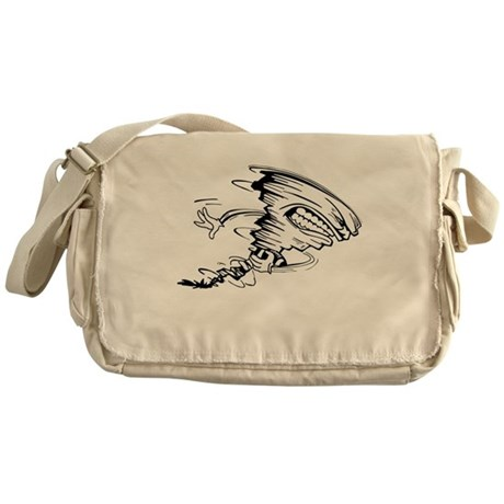 Tornado Football Player Messenger Bag