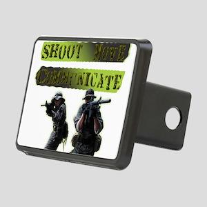 Shoot Move Communicate Rectangular Hitch Cover