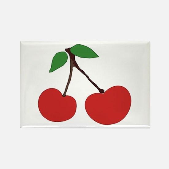 cherries (single) Rectangle Magnet