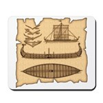 Viking Longship Diagrams Mousepad
