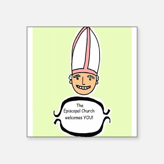 "smiley bishop Square Sticker 3"" x 3"""
