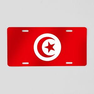 Flag of Tunisia Aluminum License Plate