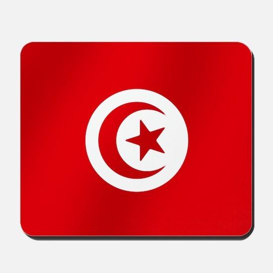 Flag of Tunisia Mousepad