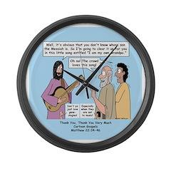 Jesus Sings Large Wall Clock