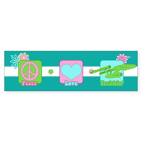 Peace Love NCC-1701 Sticker (Bumper)