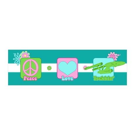 Peace Love NCC-1701 36x11 Wall Decal