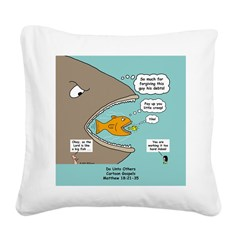 Greedy Servant Parable Square Canvas Pillow