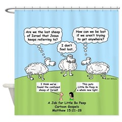 Lost Sheep of Israel Shower Curtain