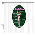 Programmer Girl - Nerds Rule! Shower Curtain