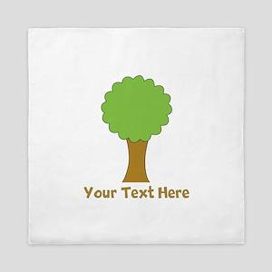 Tree and Custom Text. Queen Duvet