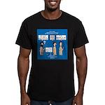 Light Shine Men's Fitted T-Shirt (dark)