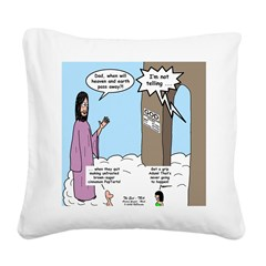 The End of the World Square Canvas Pillow