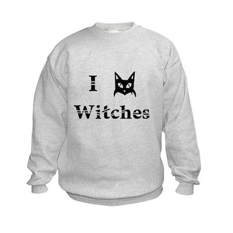 I Cat Witches Kids Sweatshirt
