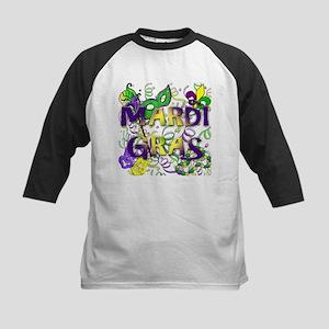 MARDI GRAS Kids Baseball Jersey