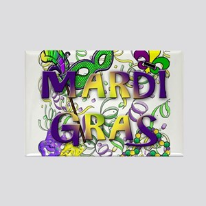 MARDI GRAS Rectangle Magnet