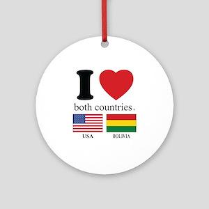 USA-BOLIVIA Ornament (Round)