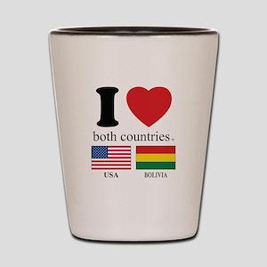 USA-BOLIVIA Shot Glass
