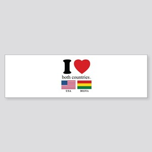 USA-BOLIVIA Sticker (Bumper)