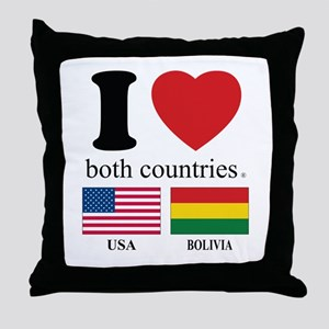 USA-BOLIVIA Throw Pillow