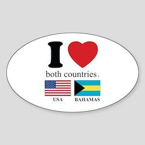 USA-BAHAMAS Sticker (Oval)