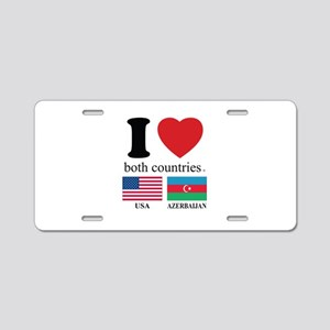 USA-AZERBAIJAN Aluminum License Plate