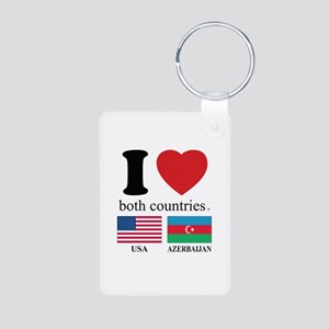 USA-AZERBAIJAN Aluminum Photo Keychain