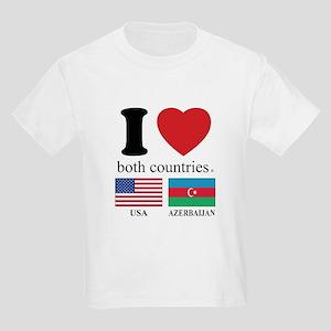 USA-AZERBAIJAN Kids Light T-Shirt