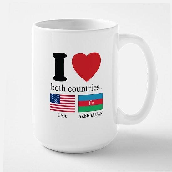 USA-AZERBAIJAN Large Mug