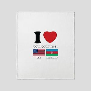 USA-AZERBAIJAN Throw Blanket