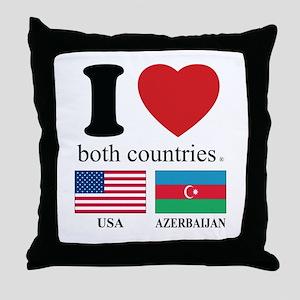 USA-AZERBAIJAN Throw Pillow