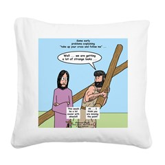 Cross-Carrying Confusion Square Canvas Pillow