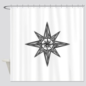 Tribal Compass Rose Shower Curtain