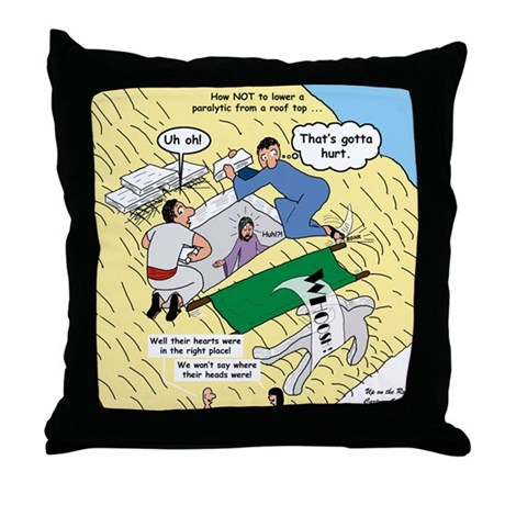 Rooftop Rescue Throw Pillow