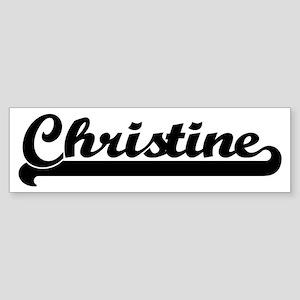 Black jersey: Christine Bumper Sticker