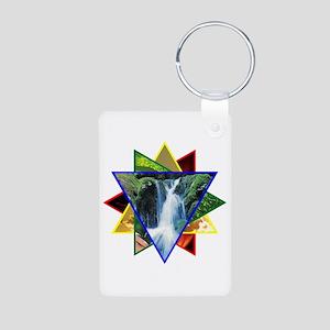Water Element Star Aluminum Photo Keychain