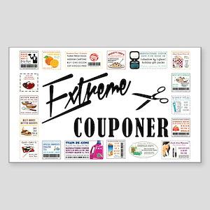 EXTREME COUPONER Sticker (Rectangle)