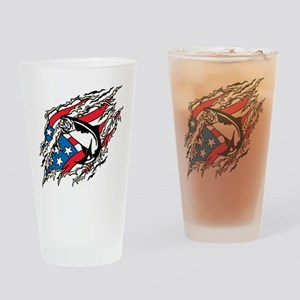 All American Trout Drinking Glass