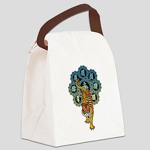 Tiger Mandala 03 Canvas Lunch Bag