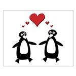 Penguin Hearts Small Poster