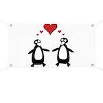 Penguin Hearts Banner