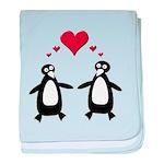 Penguin Hearts baby blanket