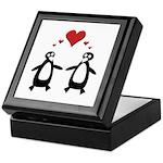 Penguin Hearts Keepsake Box