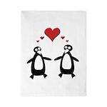 Penguin Hearts Twin Duvet