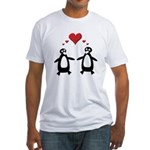 Penguin Hearts Fitted T-Shirt