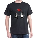Penguin Hearts Dark T-Shirt