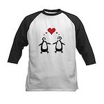 Penguin Hearts Kids Baseball Jersey