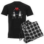 Penguin Hearts Men's Dark Pajamas