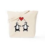 Penguin Hearts Tote Bag