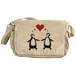 Penguin Hearts Messenger Bag