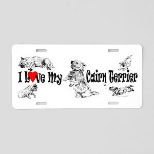 Love My Cairn Aluminum License Plate